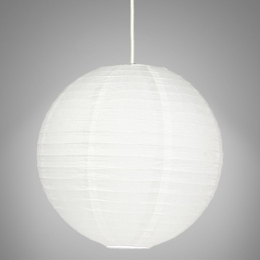 Papírové stínidlo 31-88195 bílé 50 cm