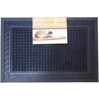 Rohožka Greek key square black 40x60