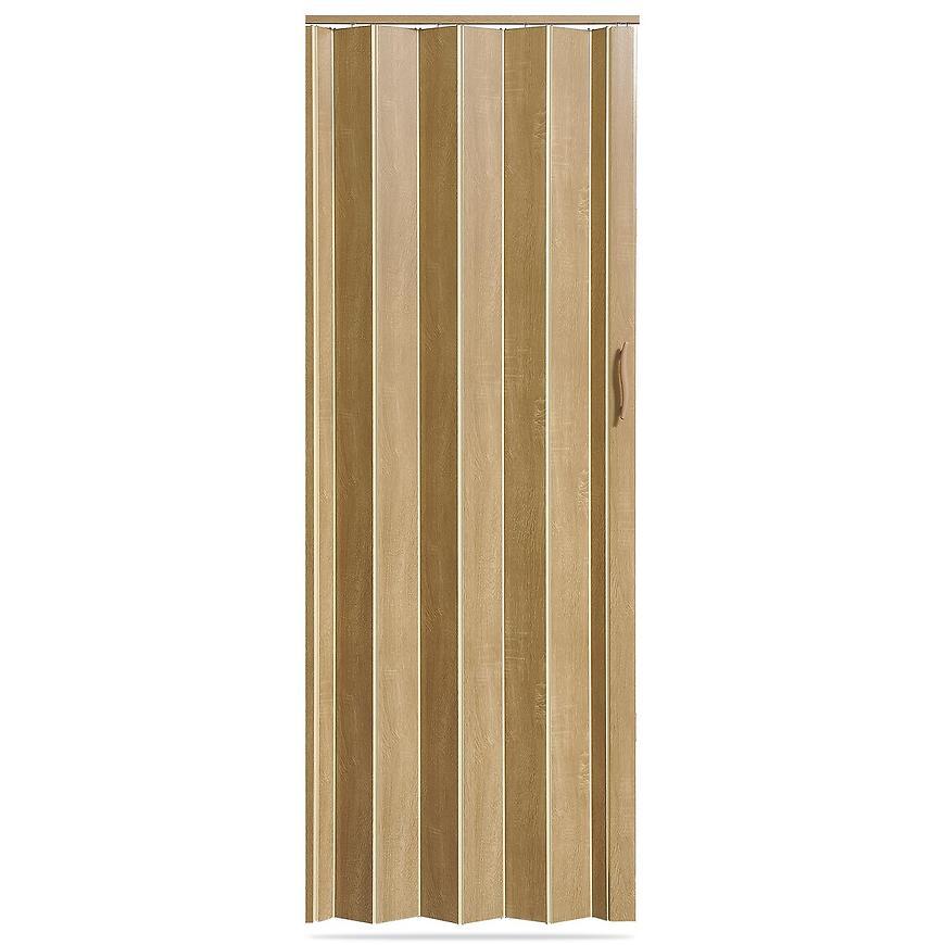 Shrnovací dveře Accordion dub stříbrný
