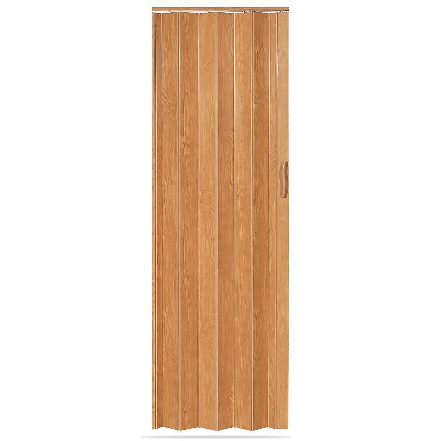 Shrnovací dveře Accordion dub světlý