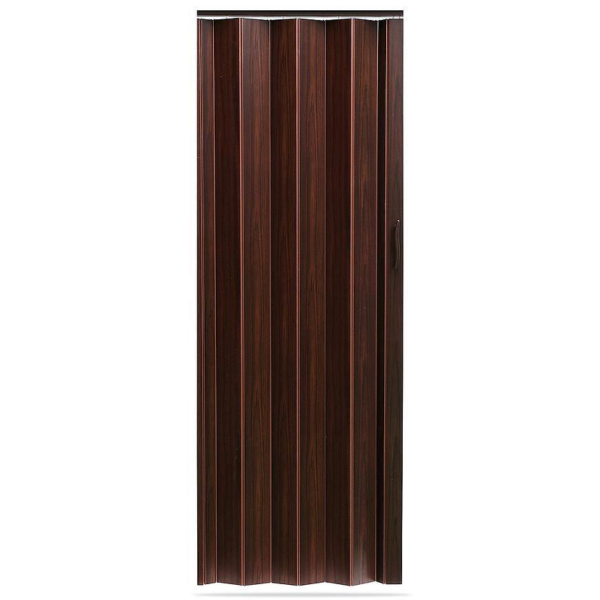 Shrnovací dveře Accordion tmavý ořech 820mm