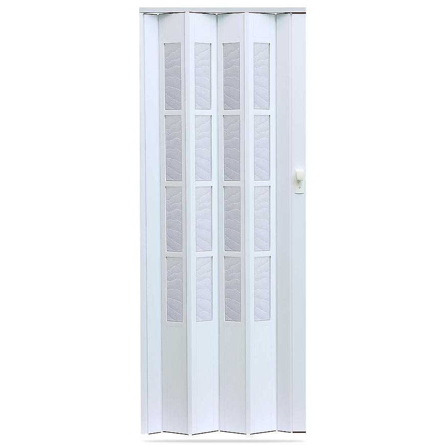 Shrnovací dveře Crystalline glass bílé