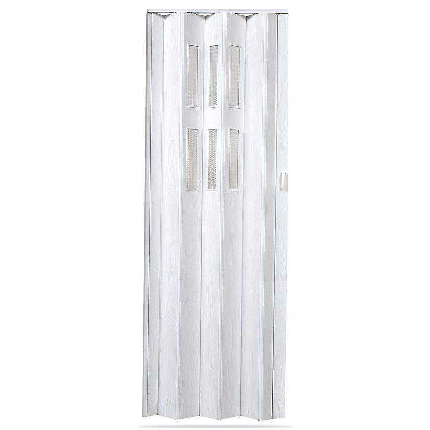 Shrnovací dveře Pioneer glass dub bílý
