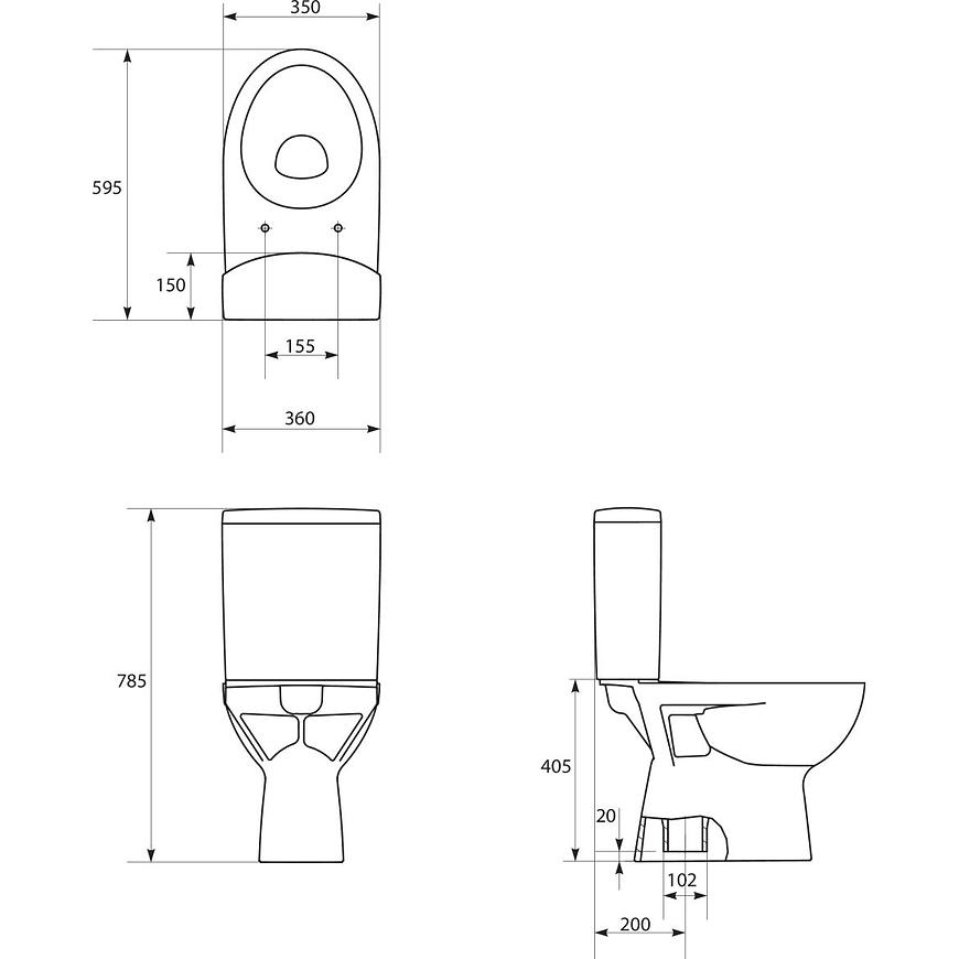 WC kombi  Parva 218