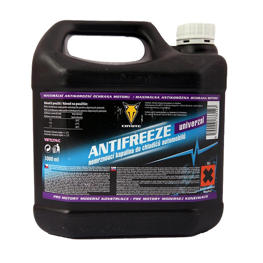 Coyote antifreeze G11 univerzal 3 l