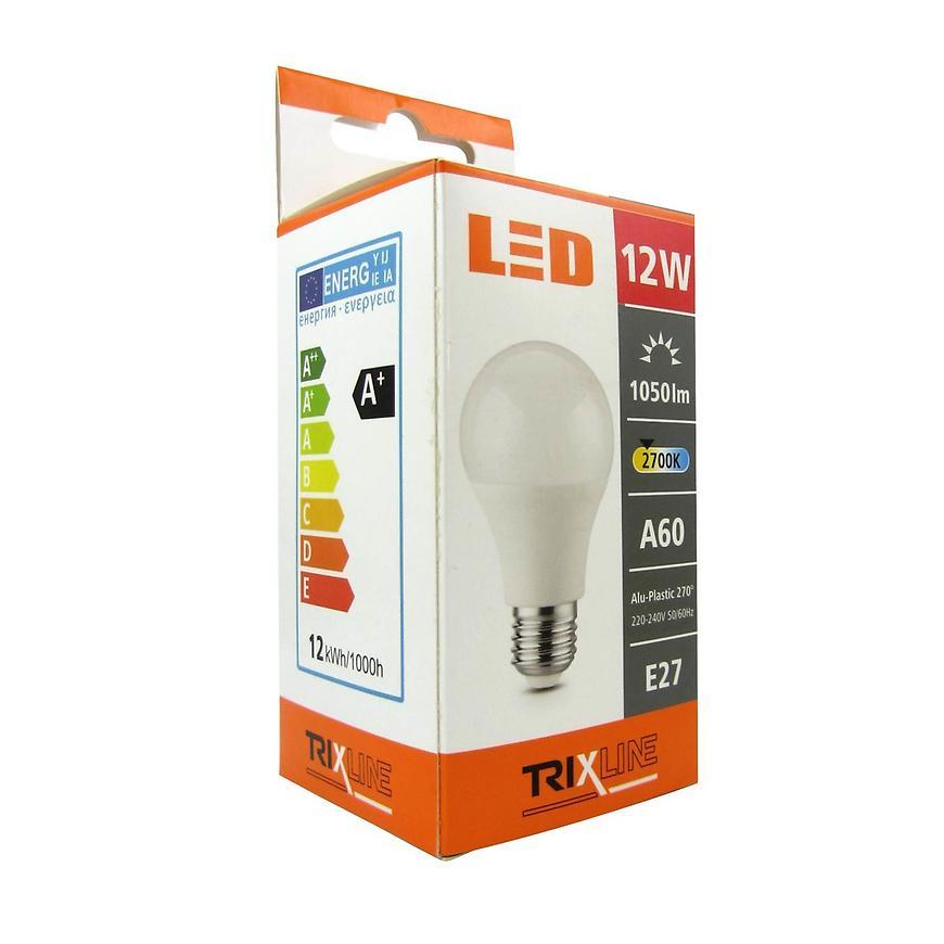 Žárovka BC 12 W LED e27 a60 2700k Trixline