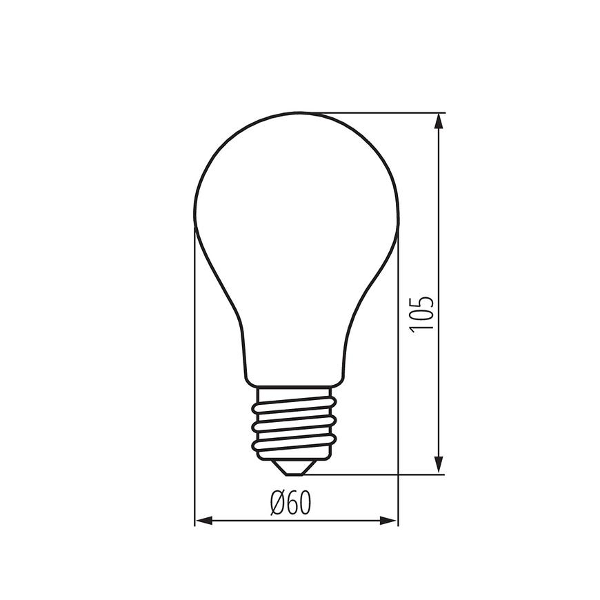 Žárovka 12 W tr LED e27 a60 6500k Trixline
