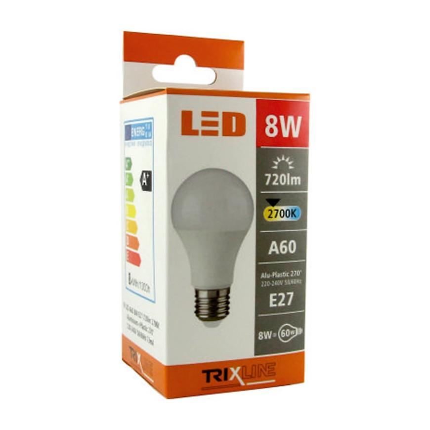 Žárovka LED a60 8 W 2700k 720lm e27