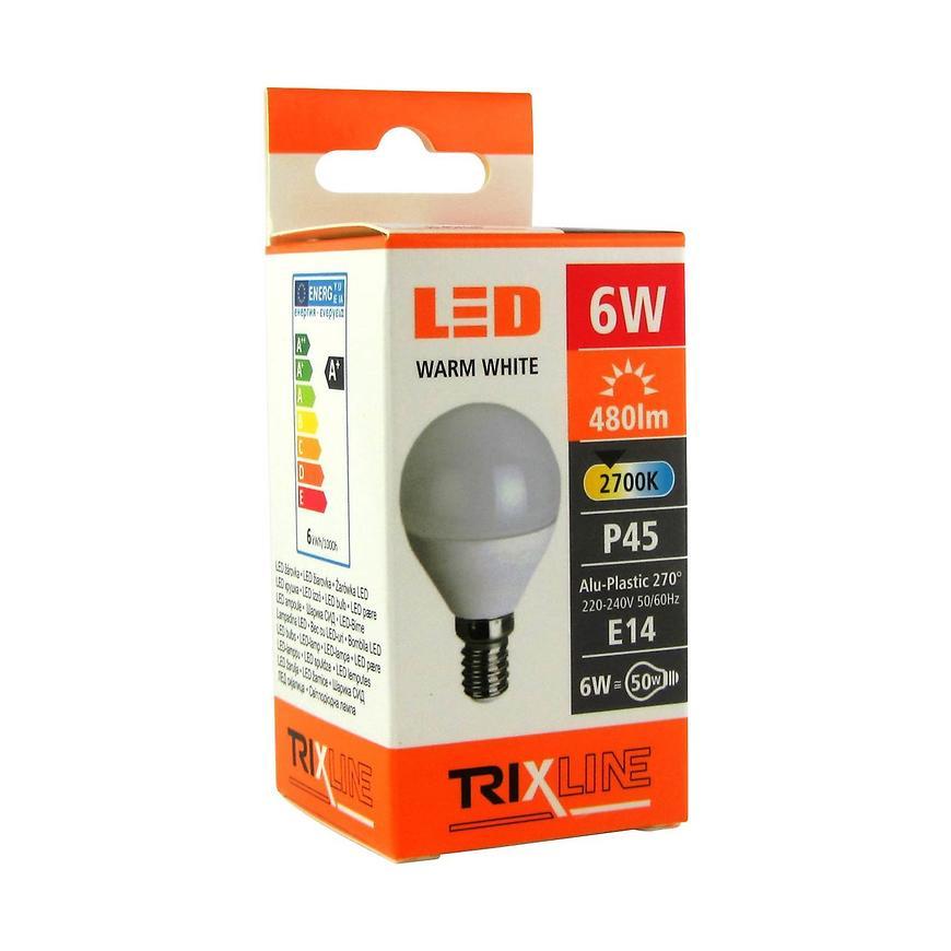 Žárovka BC 6 W LED E14 G45 2700k Trixline