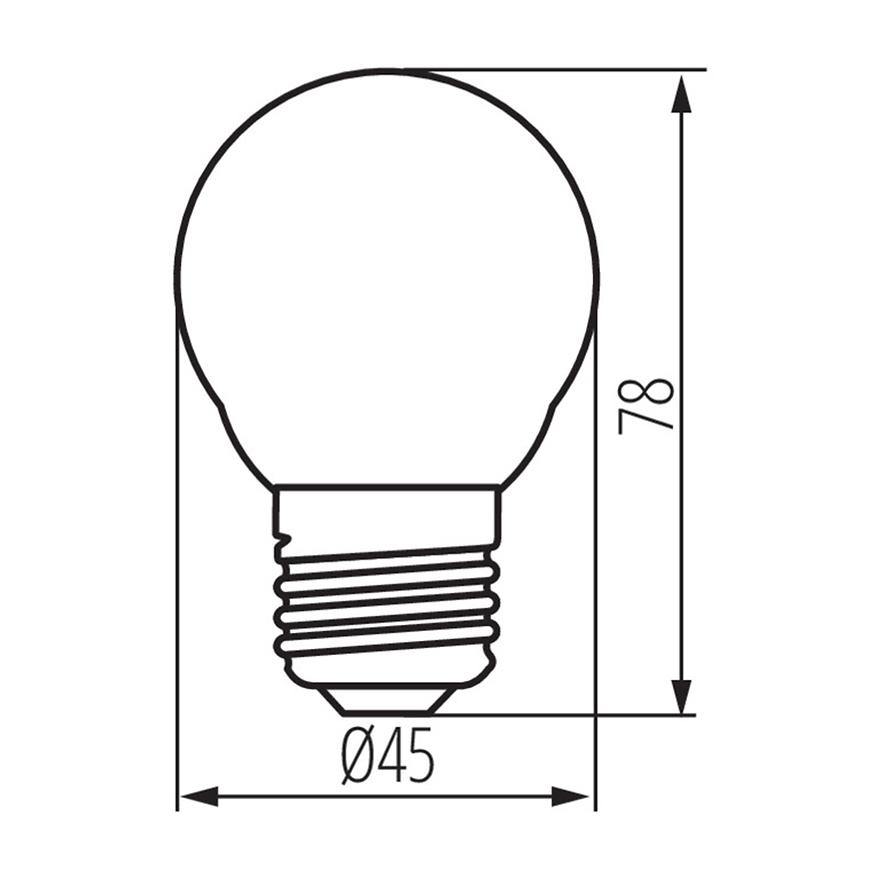 Žárovka LED G45 6 W 6500k 520lm e27