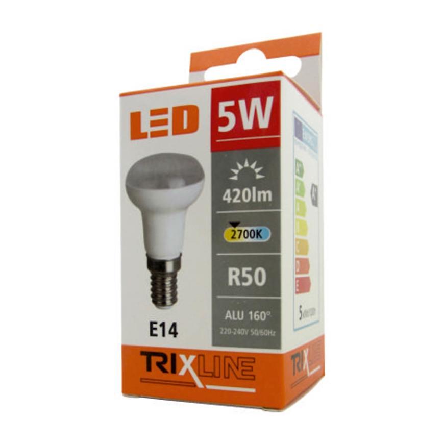 Žárovka BC 5 W LED e14 R50 2700K Trixline