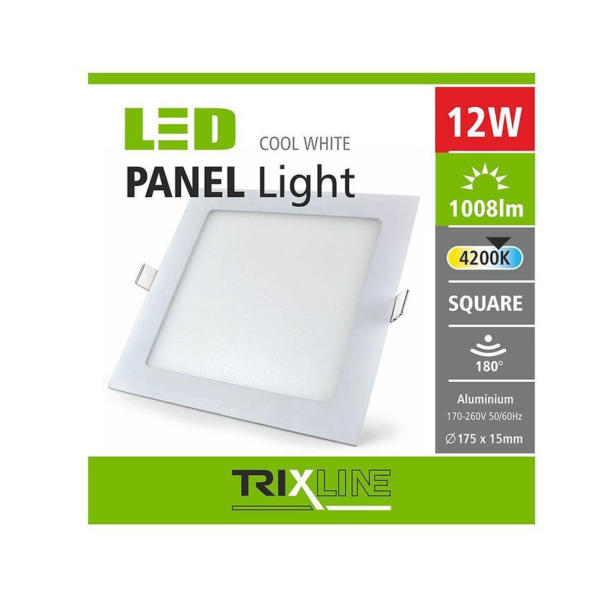 Nástěnné svítidlo 12W 4200K NW TR čtvercové