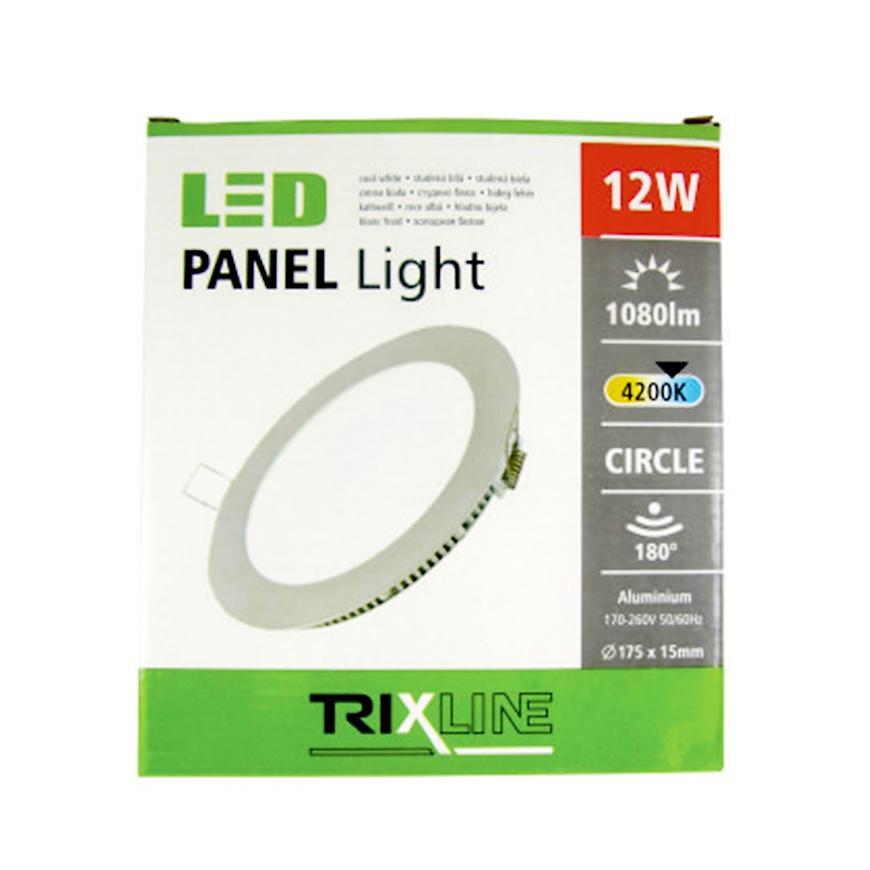 Nástěnné svítidlo 12W 4200K NW TR kulaté