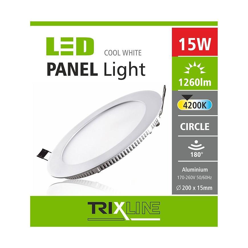 Nástěnné svítidlo 15W 4200K NW TR kulaté