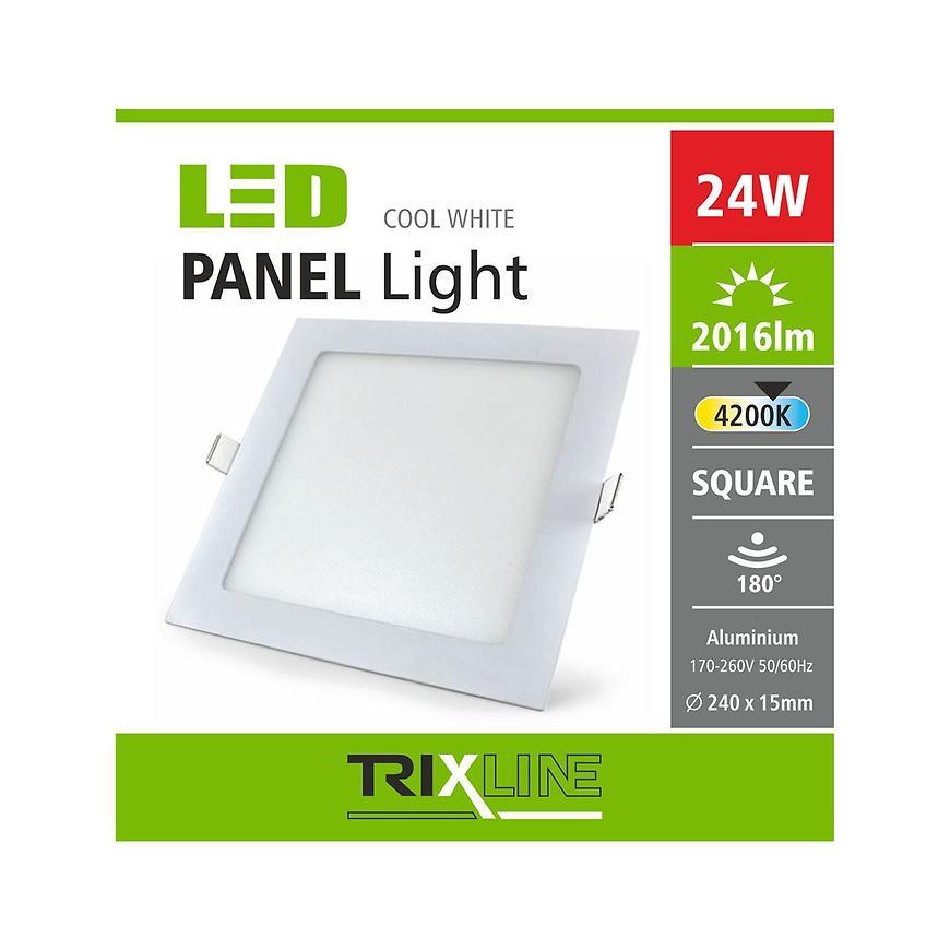Nástěnné svítidlo 24W 4200K NW TR čtvercové