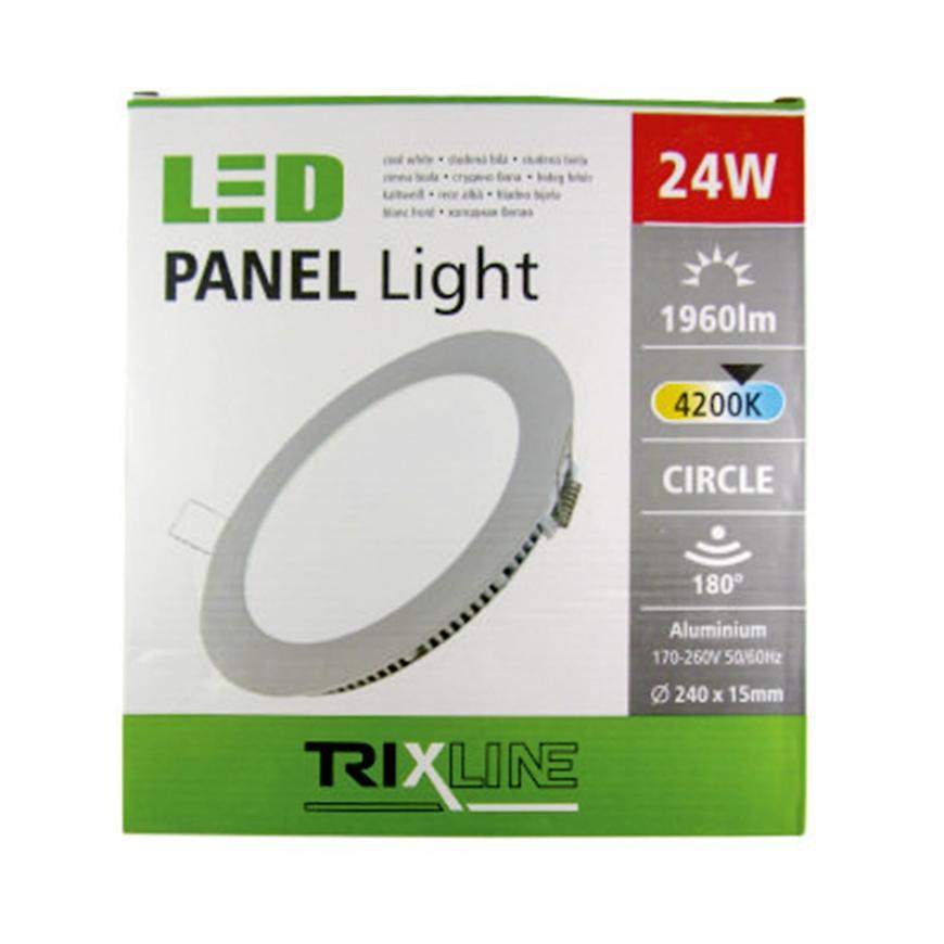 Nástěnné svítidlo 24W 4200K NW TR kulaté