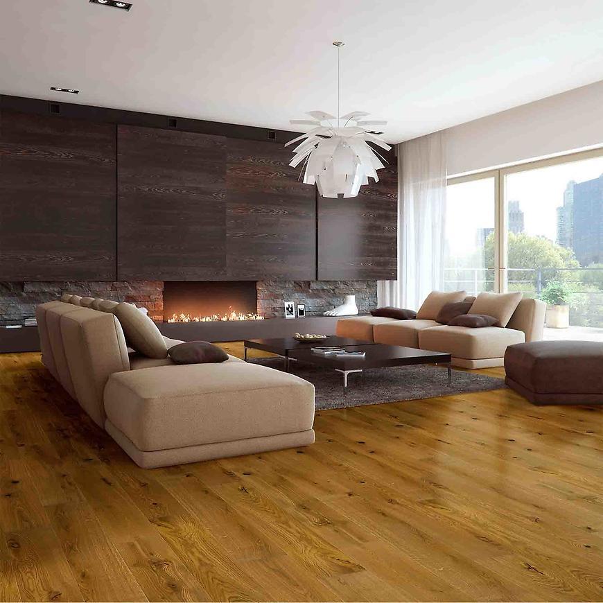 Dřevěná podlaha dub country gold 1L 14x130x725