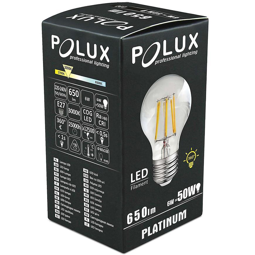 Žárovka LED Filament a60 e27 6 W