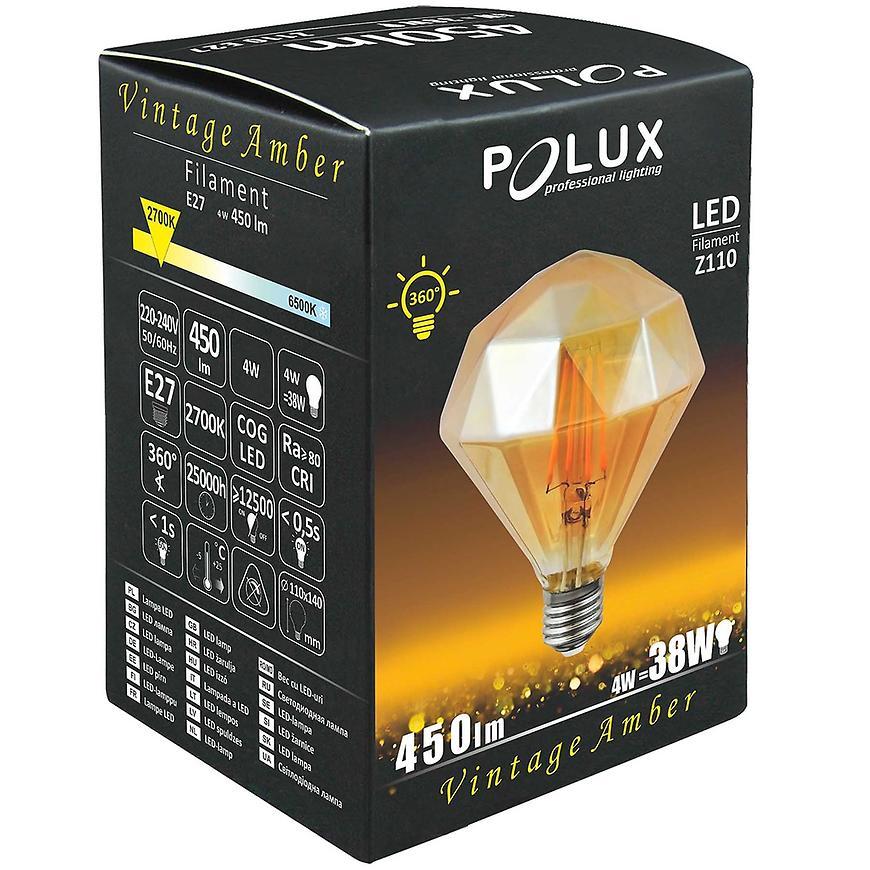 Žárovka LED Amber Vintage e27 4 W Diamond A Z110