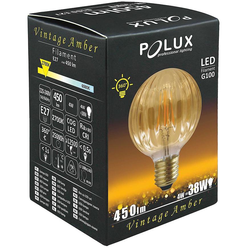 Žárovka LED Amber Vintage e27 4 W G100
