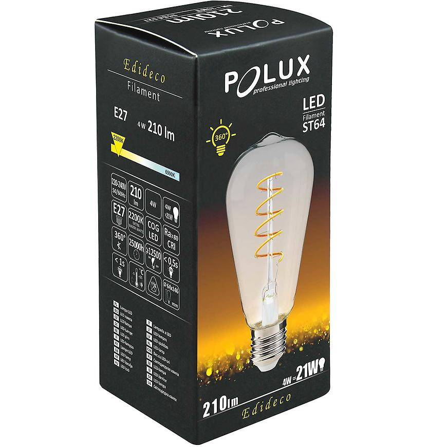 Žárovka LED Edi Spiral e27 4 W st64