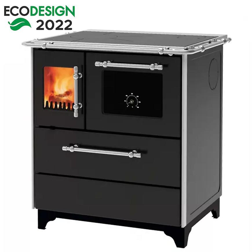 Kuchyňská kamna Donna 70 černá 5 kW pravé provedení