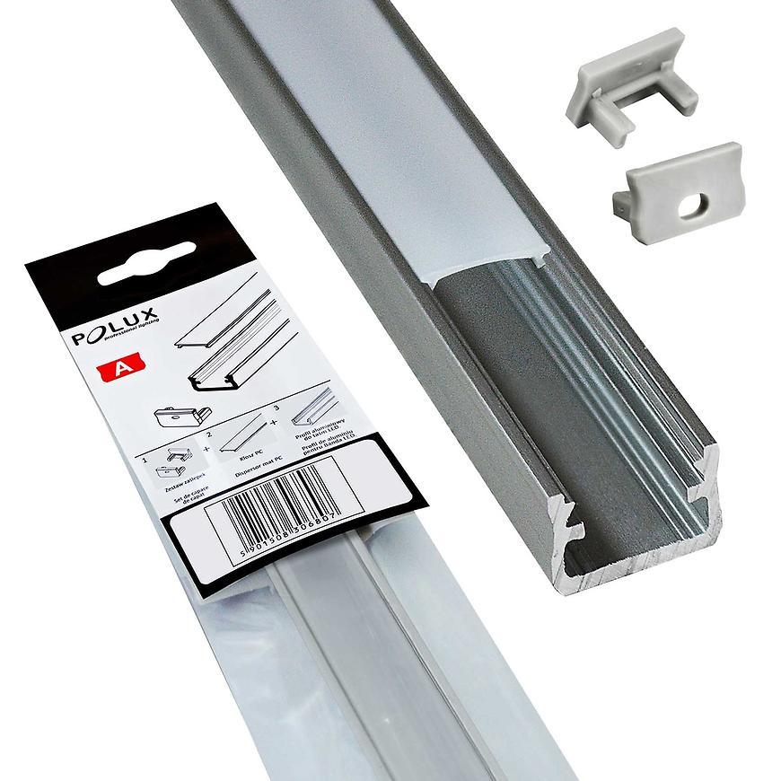 Hliníkový profil pro LED světelné pásky 1m 306807