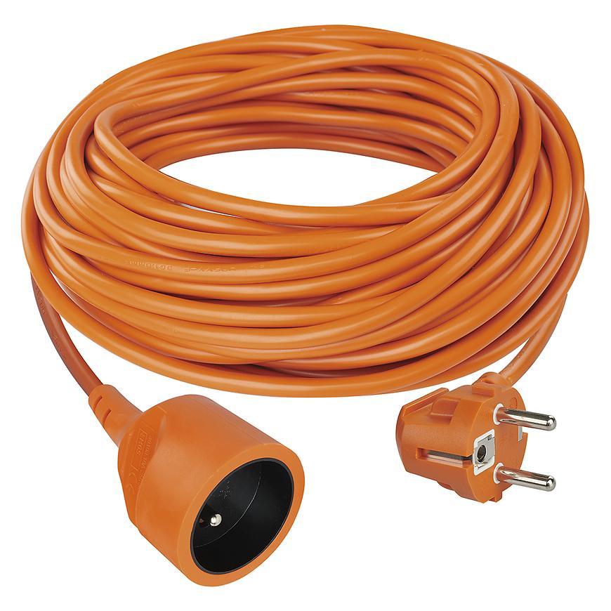 Prodlužovací kabel - spojka 20m 3 x 1,5 oranžový P01120