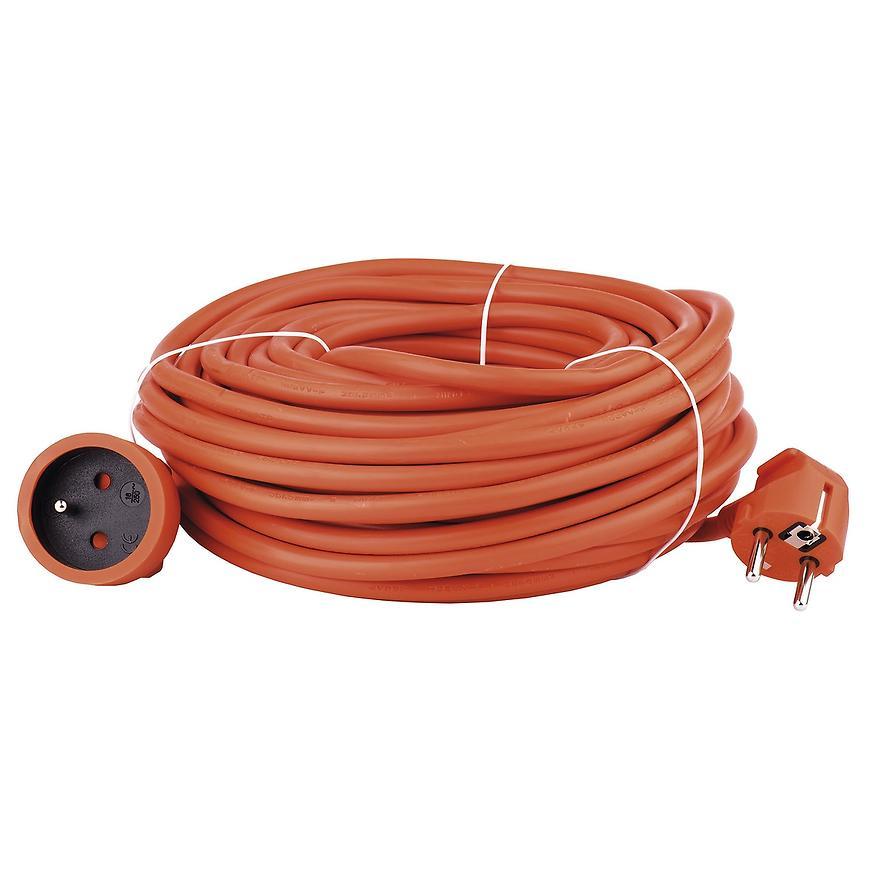 Prodlužovací kabel - spojka 30m 3 x 1,5 oranžový P01130