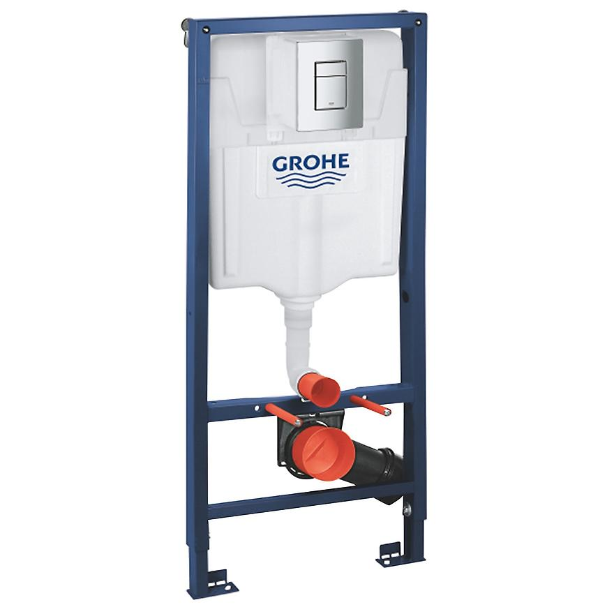 Podomítkový set WC Grohe 5v1 Rapid SL s úchytami,  ovládacím tlačítkem, závěsné WC a WC sedátko GROHE