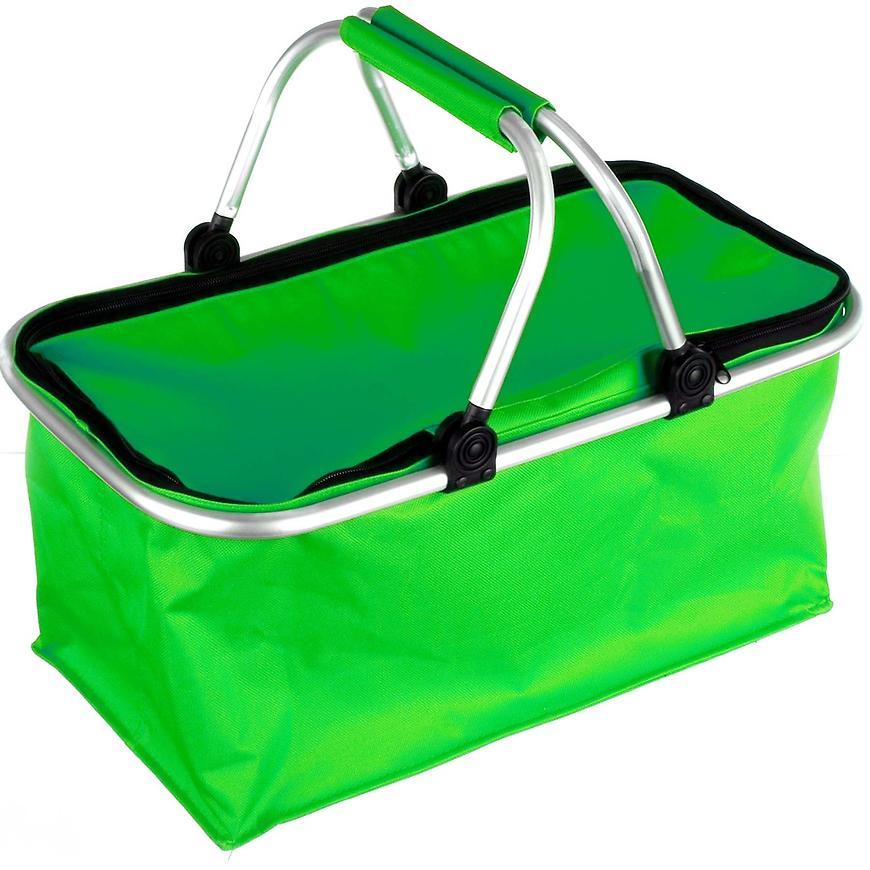 Skládací kempingový košík (zelený) s uzavíráním na zip