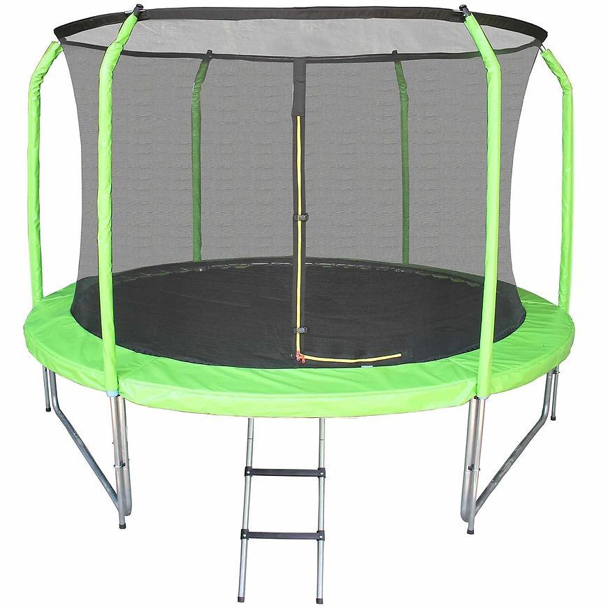 Trampolína s žebříkem 244cm zelený