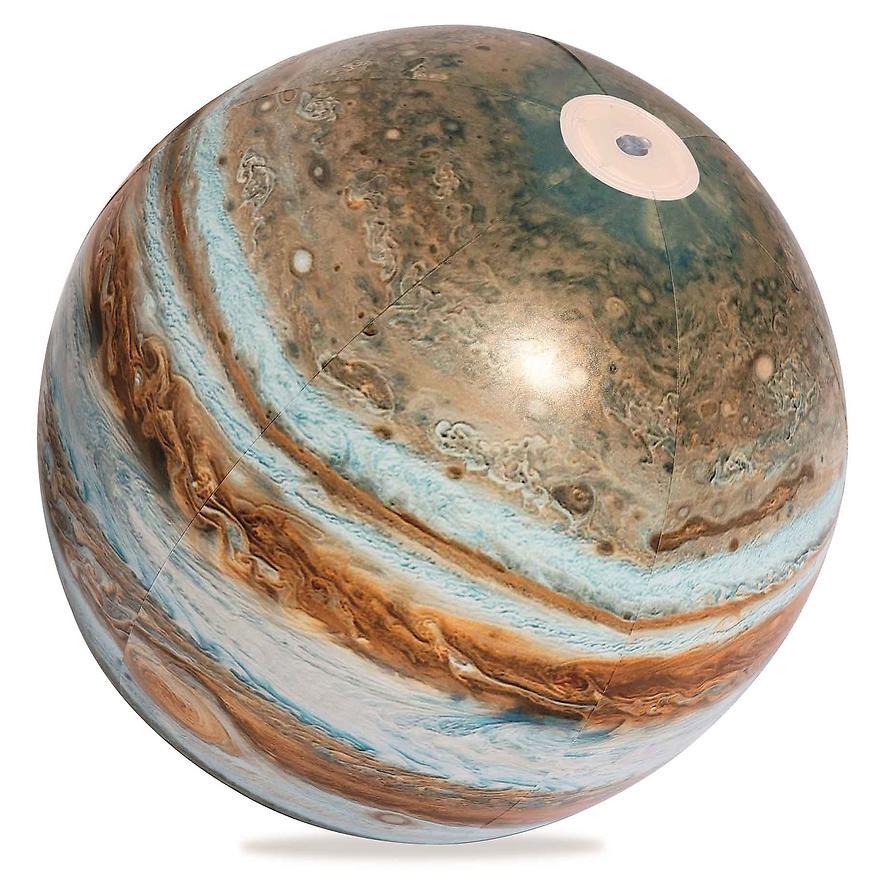 Nafukovací zářící míč led jupiter  61 cm 31043