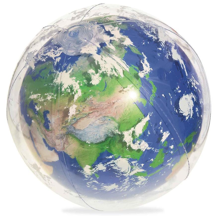 Nafukovací zářící míč led zemi 61 cm 31045