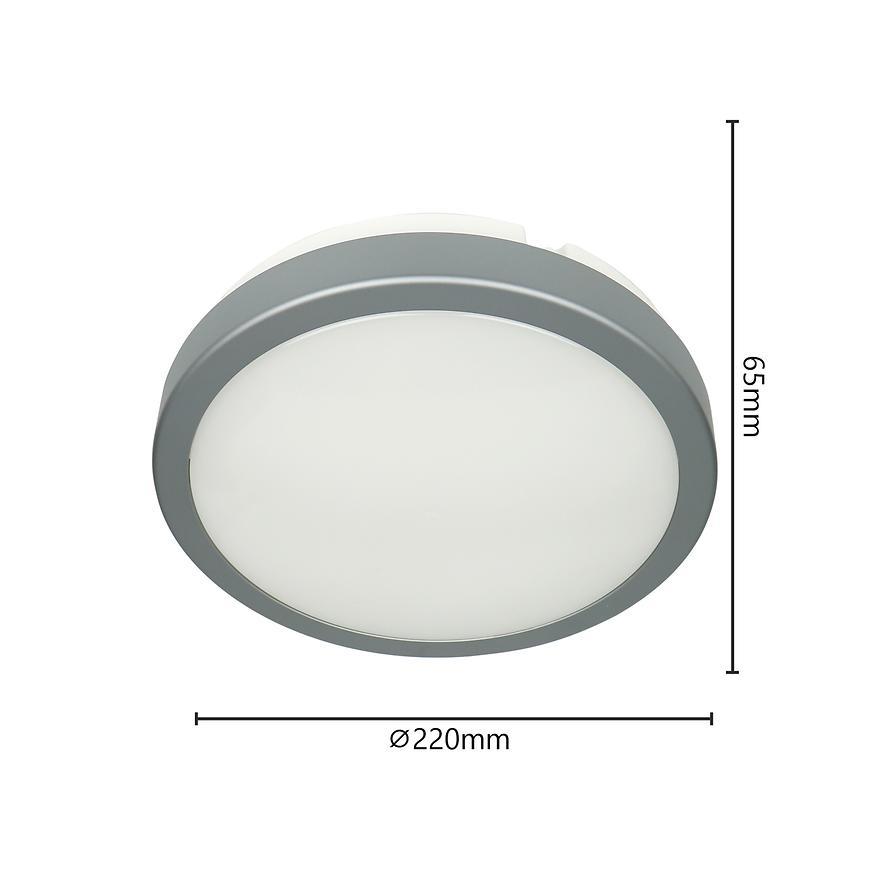 Stropne Svítidlo Ac170-250v Stribro Ip65 3000k Pl1