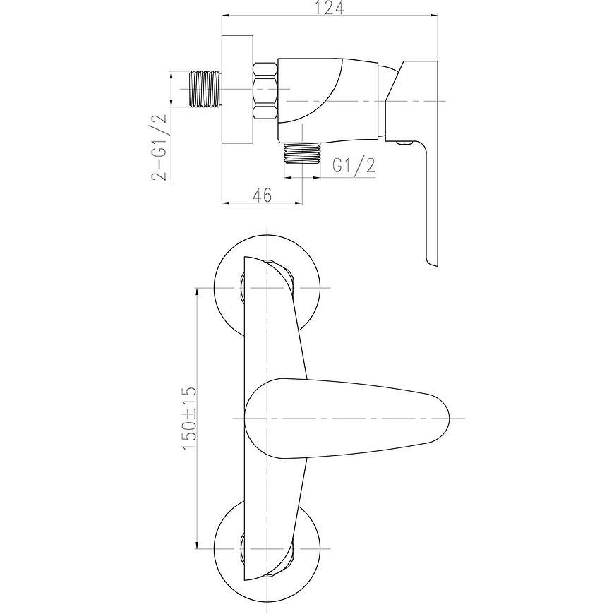 Baterie sprchová nástěnná TITANIA SMART 98061/1,0