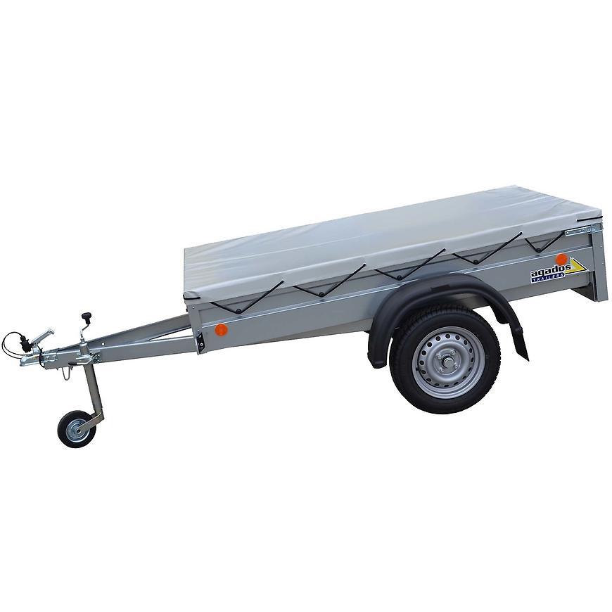 Přívěsný vozík se sklopnou korbou HANDY -20 + plachta 7CM + opěrné kolečko
