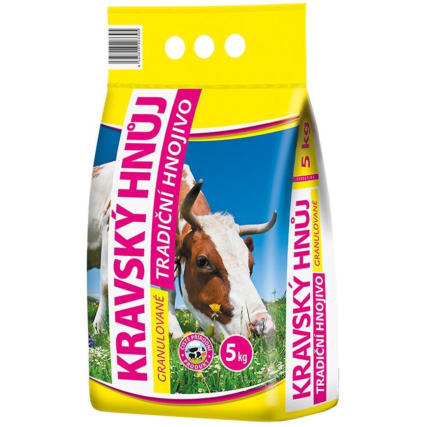 Tradiční granulované hnojivo Kravský hnůj