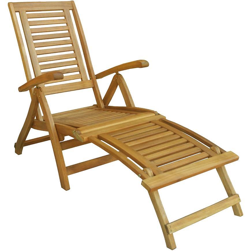 Skládací dřevěné lehátko s opěrkami 142/58/85 D001