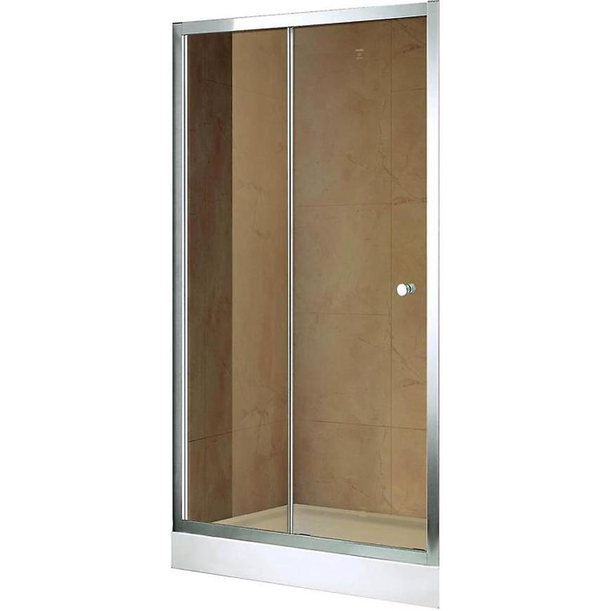Sprchové Dveře Vega 100x195 Hnědé-Chrom