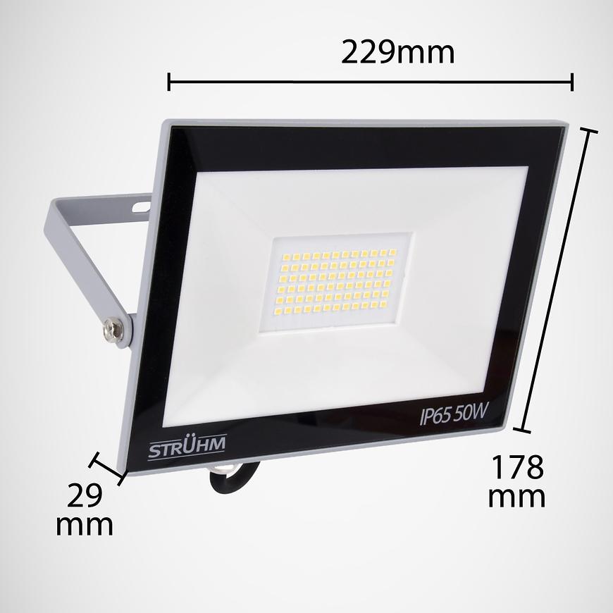 Reflektor LED 50W grey 4500K 03235