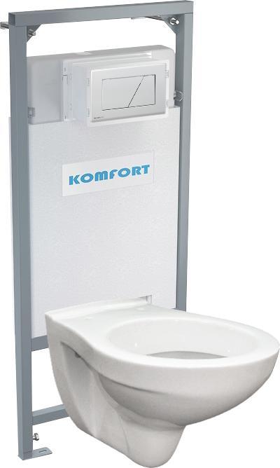 Alcaplast podomítkový set pro komfort C201 +tlačítko +WC mísa závěsná