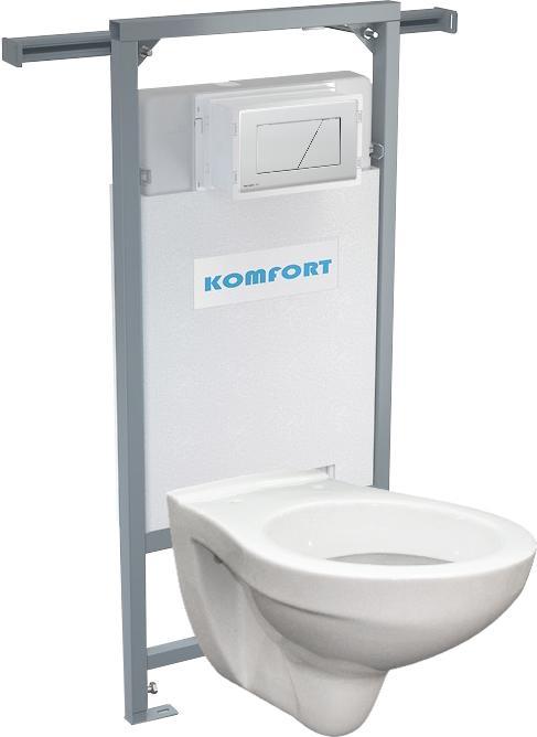 Alcaplast podomítkový set pro komfort C202 +tlačítko +WC mísa závěsná
