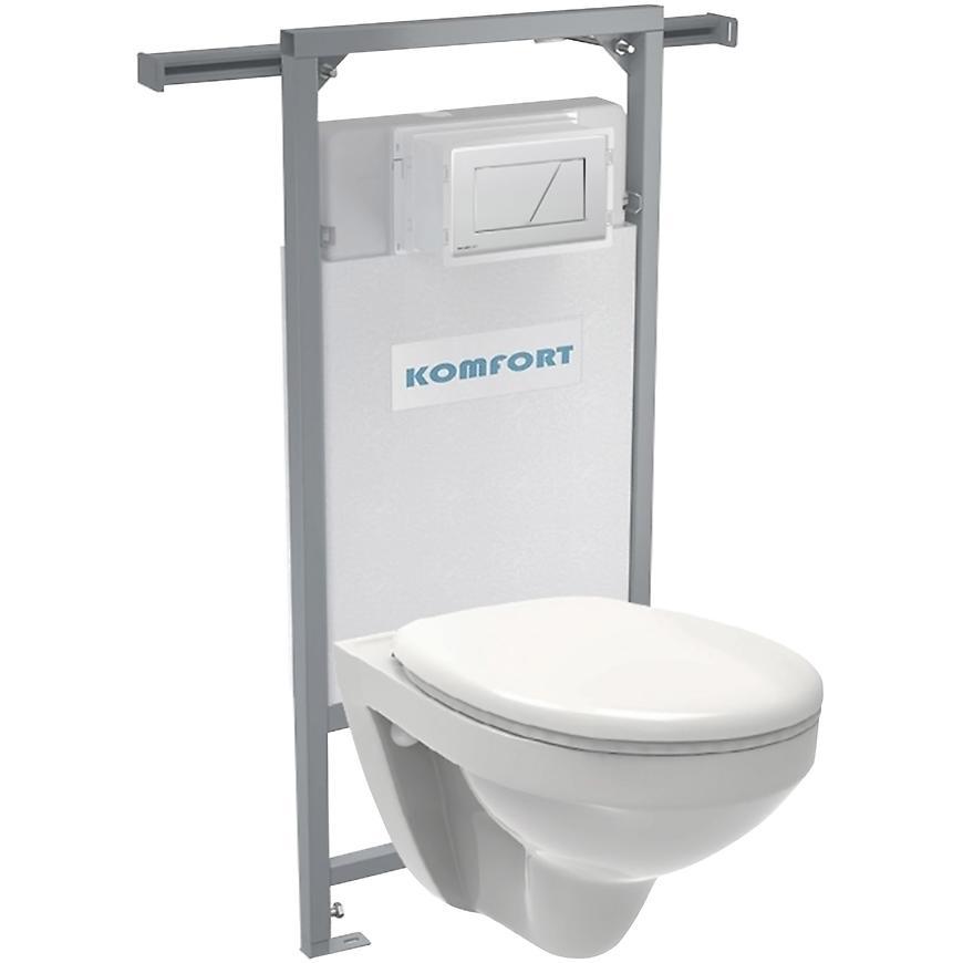 Alcaplast podomítkový set pro komfort C202 +tlačítko +WC mísa závěsná rimless + sedátko