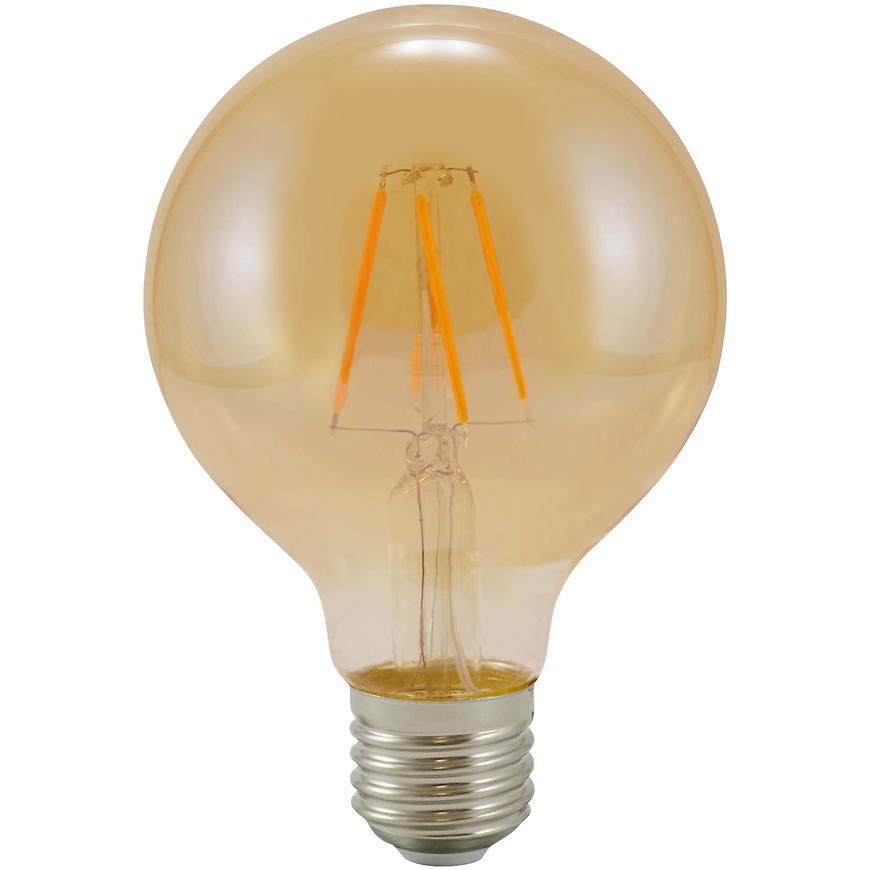 Žárovka LED G80 E27 3,7W filament Vintage Amber 304520