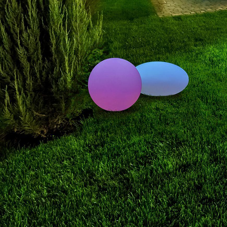 Solarní svítidlo kula R3001-G 311351 30 CM RGB