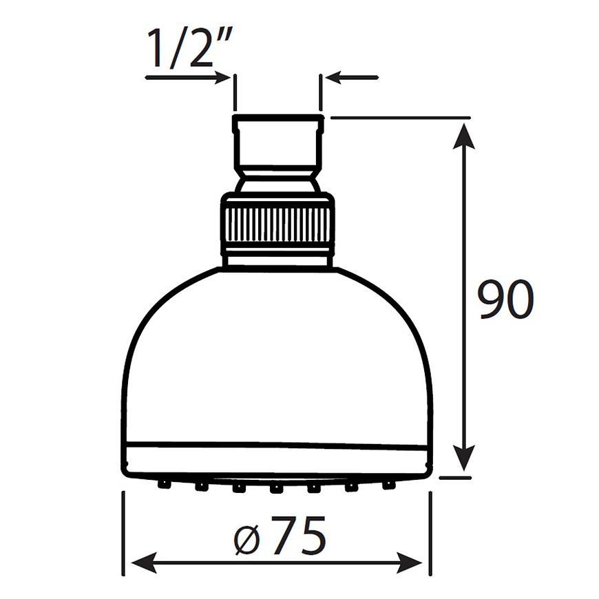 Sprchová hlavice Hebe DES06