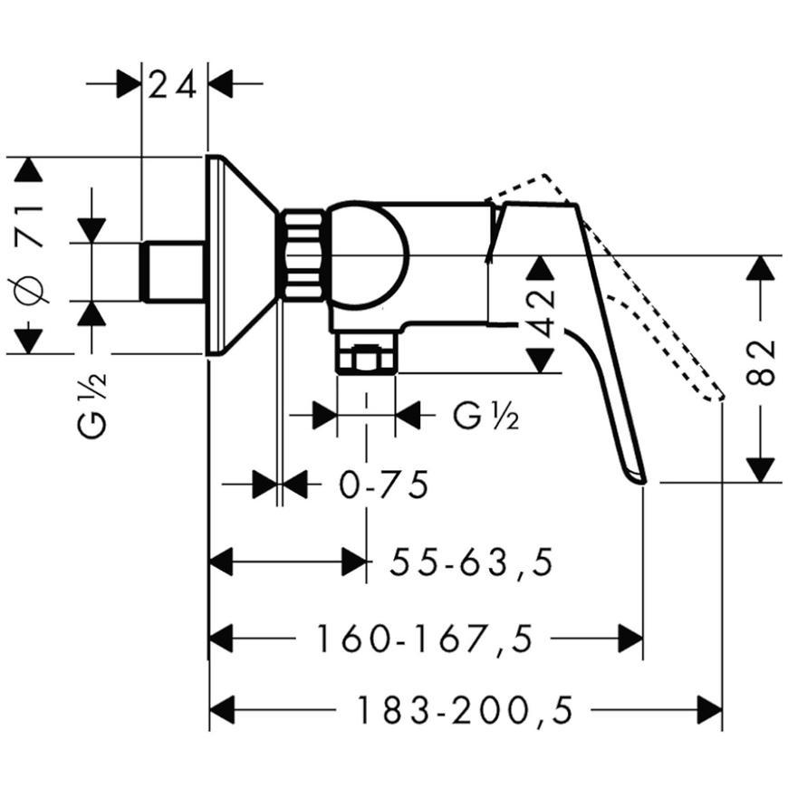 Baterie sprchová FOCUS 31960000