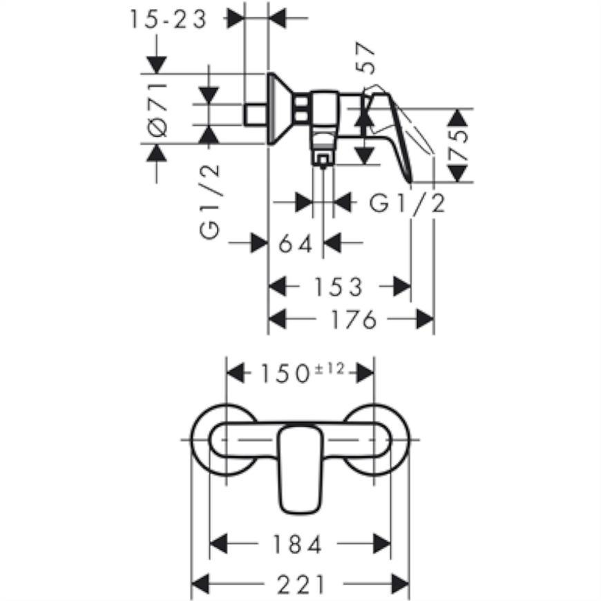 Baterie sprchová MYCUBE 71261000