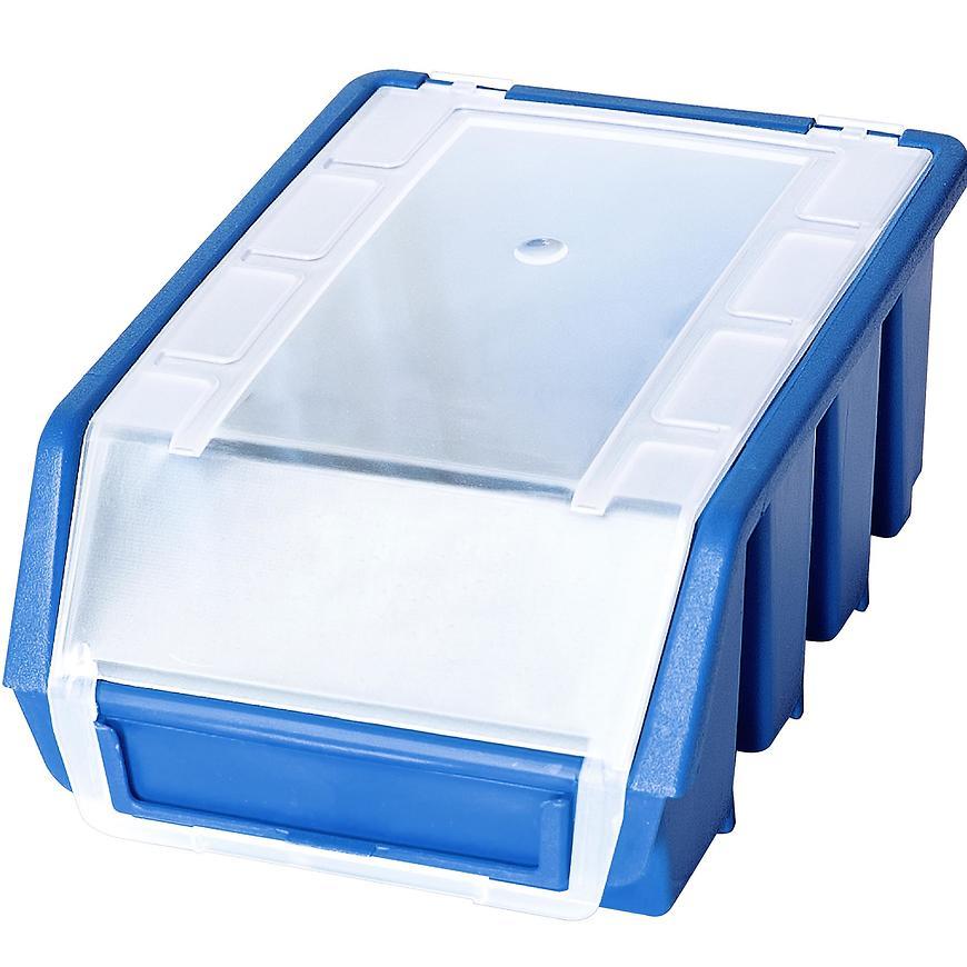 Zásobník s víkem ergobox 2 plus modrý